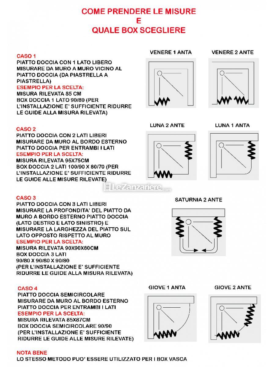 Misure Per Box Doccia.Box Doccia Giove Semicircolare 2 Lati 1 Anta Le 10040 Giove Lat