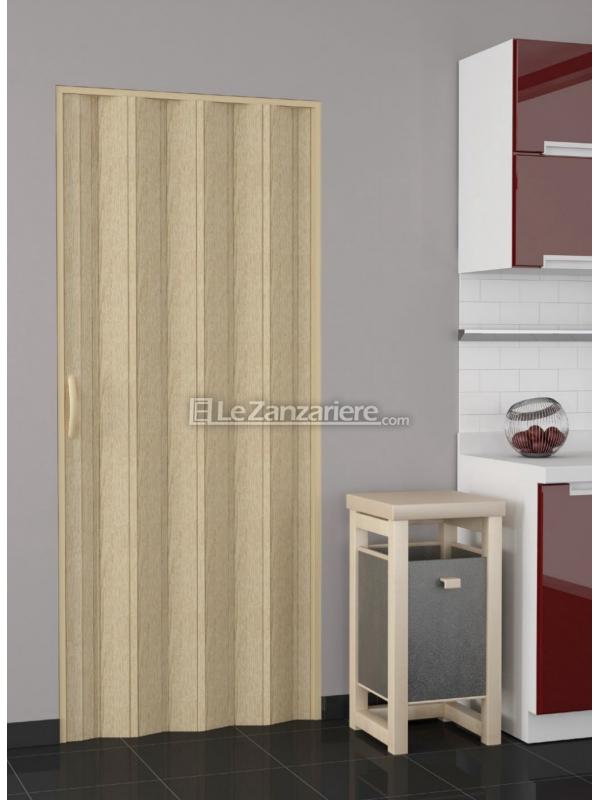 Porta a soffietto linea stampato con effetto legno, marmo o puntinato.